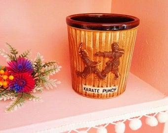 Vintage Japan Karate Punch tiki mug
