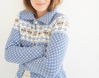 Cardigan/jacket in nordic knit