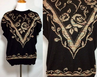 Vintage 1980's Mademoiselle Summer Sweater