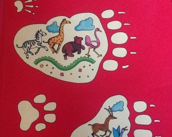 Vintage Reader, Footprints, 1976 Houghton Mifflin Co. 80 pgs spft cover.