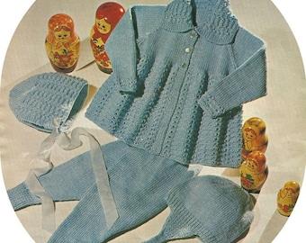 Baby Vintage Pram Set PDF Knitting Pattern