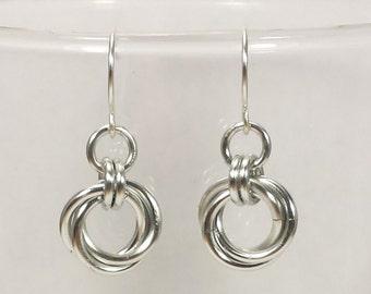 Mobius Chainmail Earrings
