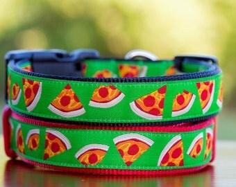 Pizza Dog Collar / Pepperoni Pizza / S- XL / Australian Made