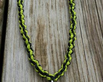 Handmade Neon Green Twist Hatchet Girl Necklace