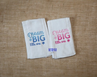 Ombre Embroidered Burp Cloth