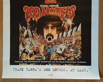 Frank Zappa 200 Motels Poster for CD Release of Soundtrack