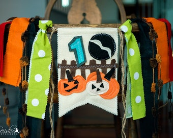 Halloween Birthday Banner, Halloween Birthday, Halloween High Chair Banner, Fall Banner, Pumpkin High Chair Banner, 1st Birthday Pumpkin