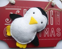 Felt Penguin Decorations, Christmas Penguin, Baby Christmas Ornaments, Christmas Decorations
