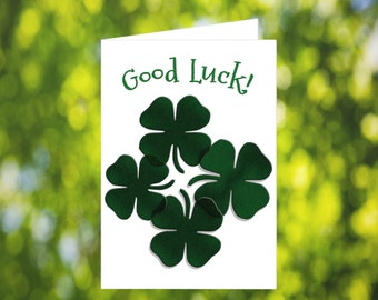 Printable Good Luck Card: Clovers - St Patrick's Day Card - Printable Happy St Patrick's Day Card - Printable Card - Lucky Card - Download