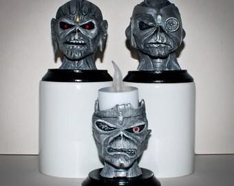 Iron Maiden Eddie inspired statuette collection starter pack.