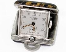 Vintage Swiss made travel clock Paul Buhre 17-jewel. wavn101cn(e)