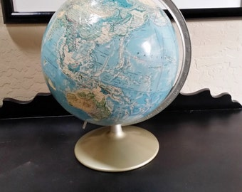 1976 Desk Globe, World Globe, Rand McNally Desk Globe