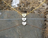 Heart Necklace, Graduation Gift, Personalized Wedding, Flower Girl Gift Kids Junior Bridesmaid Gift Sister Girlfriend Gift Present Jewelry