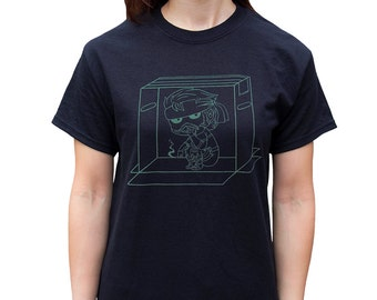 Metal Gear Snake in A Box Glow-In-The-Dark Screenprinted T-shirt (Unisex S-3XL)