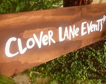 Custom Business Wooden Name Sign / Business Branding / Business Signage / Creative