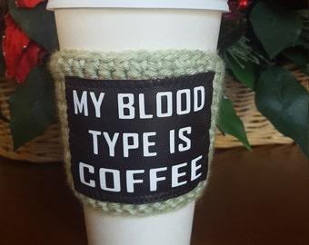 stocking stuffer, Christmas gift, coffee Christmas gift, holiday gift, cup cozy, coffee sleeve, coffee lover gift