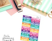 Sarcastic Cancelled Planner Stickers- Colorful