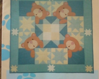 Vintage Starbears Quilt and Bear Backpack Pattern