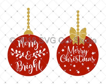 Christmas SVG Cut files, Christmas Ornaments SVG Cut Files for Cricut, Silhouette and other Vinyl Cutters, svg files