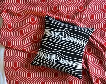 Black And White Wood Grain Print Envelope Cushion Cover