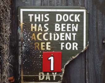 Disneyland Jungle Cruise Inspired Wood Sign - Accident Free Sign