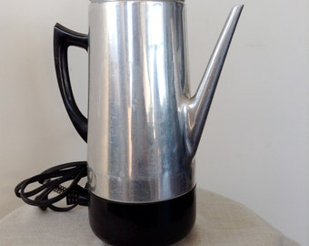 Vintage Mid Century Filtro Coffee Percolator, Modern Electric Fully Automatic Coffee Pot, Mad Men Coffee Pot