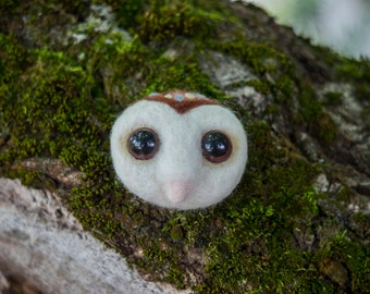 owl head brooch