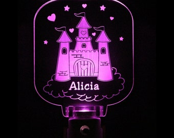 Princess Castle Personalized Night Light