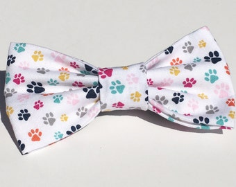 The Mini Paw - Multi-Colored Paws -Attachable Pet Bow Ties -