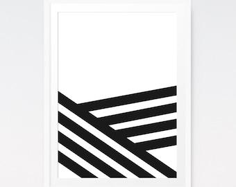 Stripe Art, Minimalist Prints, Line Art, Line Drawing, Aztec Art, Geometric Abstract, Modern Minimalist, Black Lines, Simple Print Art