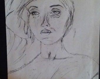 PetraBaye Original - 10x8 Pen drawing no.1