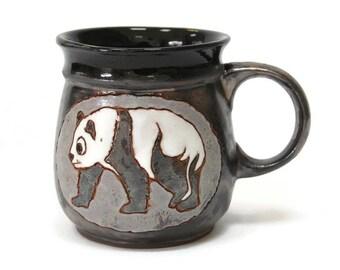 Panda, Ceramics and Pottery, Ceramic Cup, Ceramic Mug, Coffee Cup, Handmade, Drink, Teacup, Funny Cup, Pottery Handmade, Animal Cup, Pottery