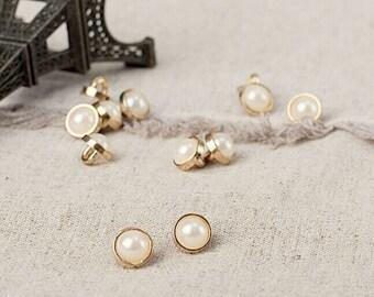 10 pcs High quality metal Button,Pearl button,For Dress,Shirt,Cardigan,8.7mm(0.34 inch),MMSK33