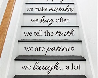 Stair decals etsy - Stickers pour escalier ...
