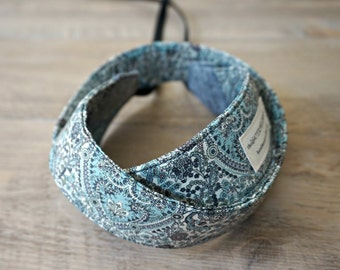 Paisley Camera Strap - Grey Paisley DSLR Camera Strap - Camera Accessories - Persolized Neck Strap - Kitty Grace Liberty Fabric