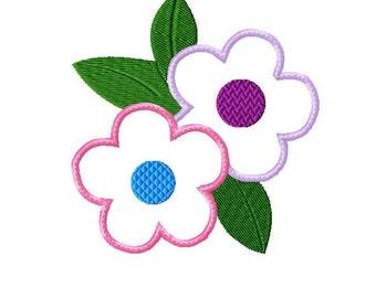 Applique Machine Embroidery Design Baby Flower