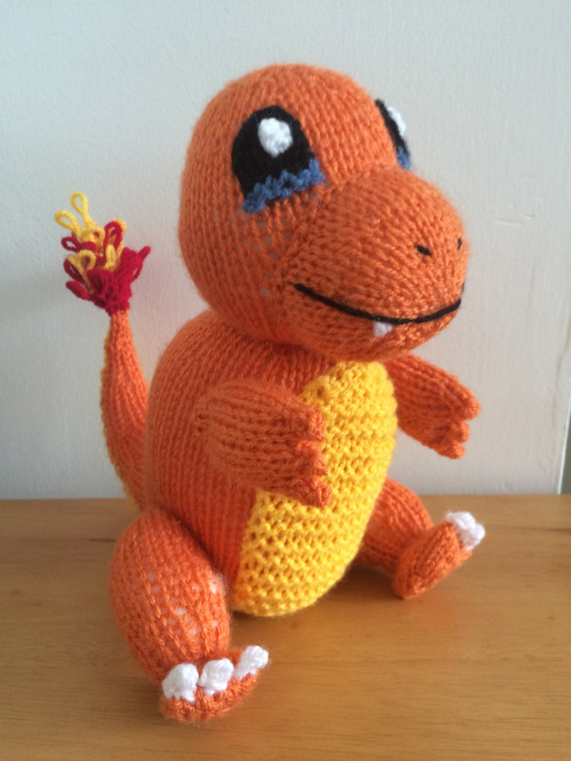 Knitting Patterns Plush Toys : Charmander pokemon knitting pattern toy knitted soft toy