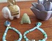 Ocean Mala Bracelet with Tassel