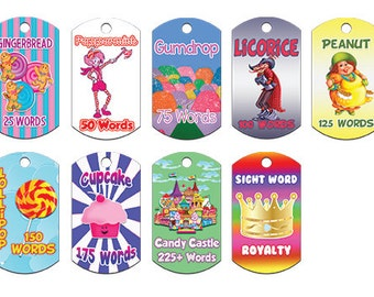 """Learning Incentives """"Sight Word Awards, Student Awards, Student Rewards, Reading Awards, Brag Tags, Custom Brag Tags, Classroom Ideas"""""""