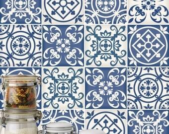 portugiesische fliesen patterns fliesenaufkleber k che. Black Bedroom Furniture Sets. Home Design Ideas