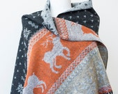 ReinDeer Scarf Christmas Gift For Him Boyfriend Gift Scarf Orange Scarf Winter Scarf Women Holiday Fashion Accessories Gift Ideas For Her