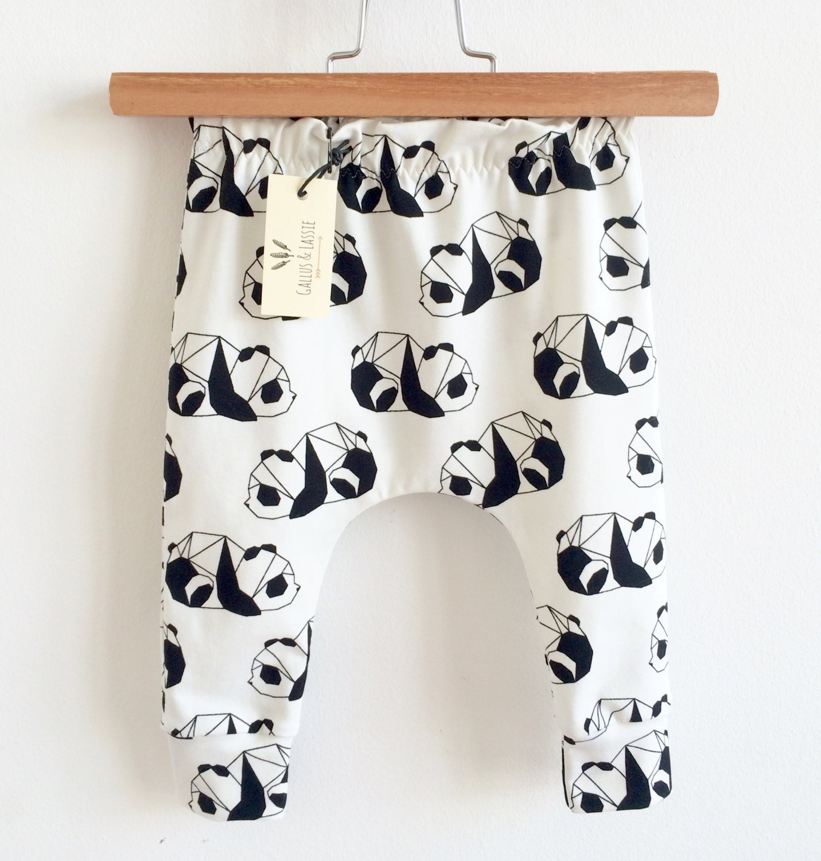 Organic Baby Clothes Panda Baby Clothes Bear Leggings