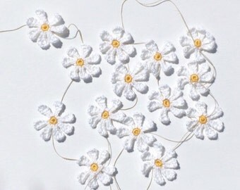 26 Daisy Colors! Crochet Daisy Garland | Crochet Spring Decoration | Decorative Flower Bunting