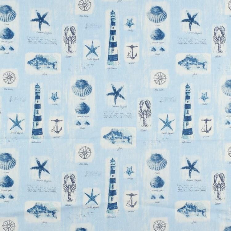 Custom Fabric Shower Curtain High End Designer Waverly Beach