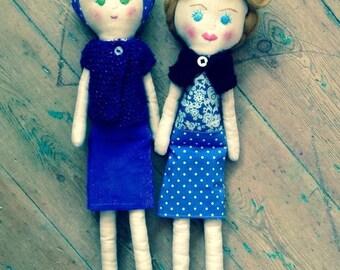 Heirloom Doll. Cloth Art Doll. Fifties style.