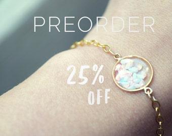 Rose Quartz and Serenity Bracelet Minimalist Bracelet