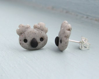 Cute Koala Bear Polymer Clay Stud Earrings