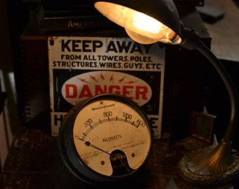 Old Westinghouse Kilowatts Electric Gauge