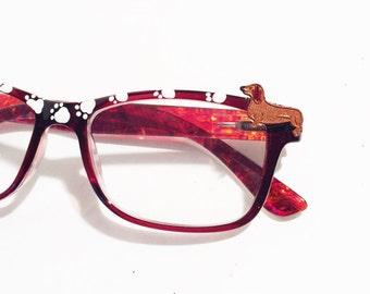 Reading Glasses Dog +1.50,  Dachshund  Reading Glasses, Dog lover Eyeglasses, Reading glasses Paws