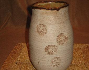 Large Neutral Stoneware Vase